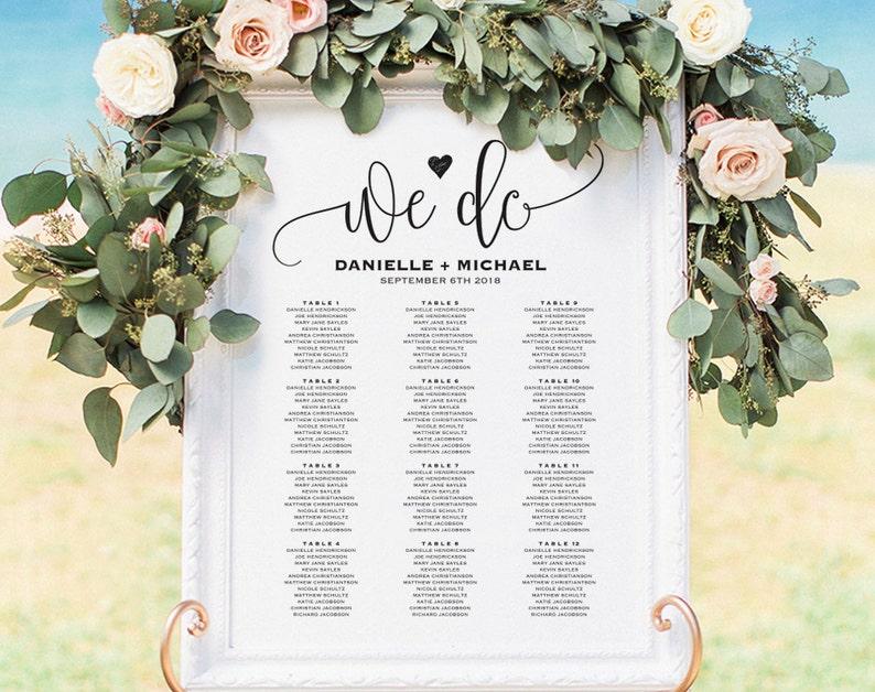 Wedding Seating Chart Sign Seating Chart Printable Seating image 0