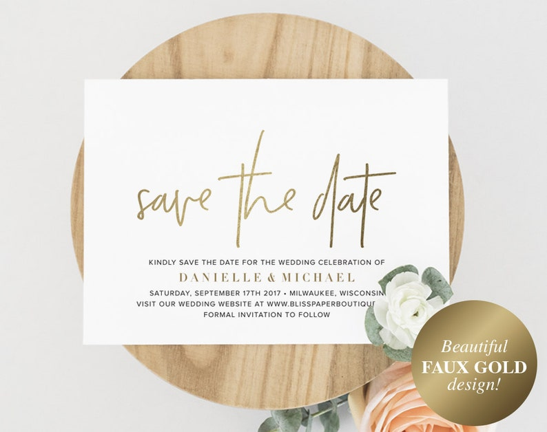 Gold Save The Date Save the Date Template Save the Date image 0