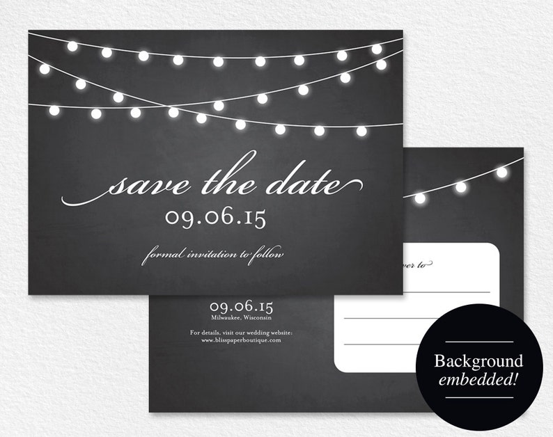 Save the Date Postcard Save the Date Printable Save the Date image 0