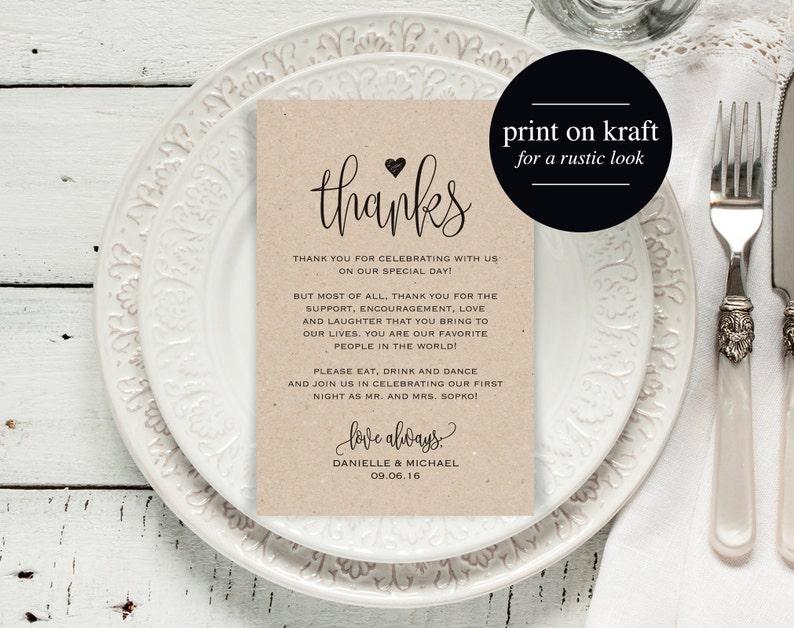 Wedding Thank You Cards Thank You Printable Editable image 0