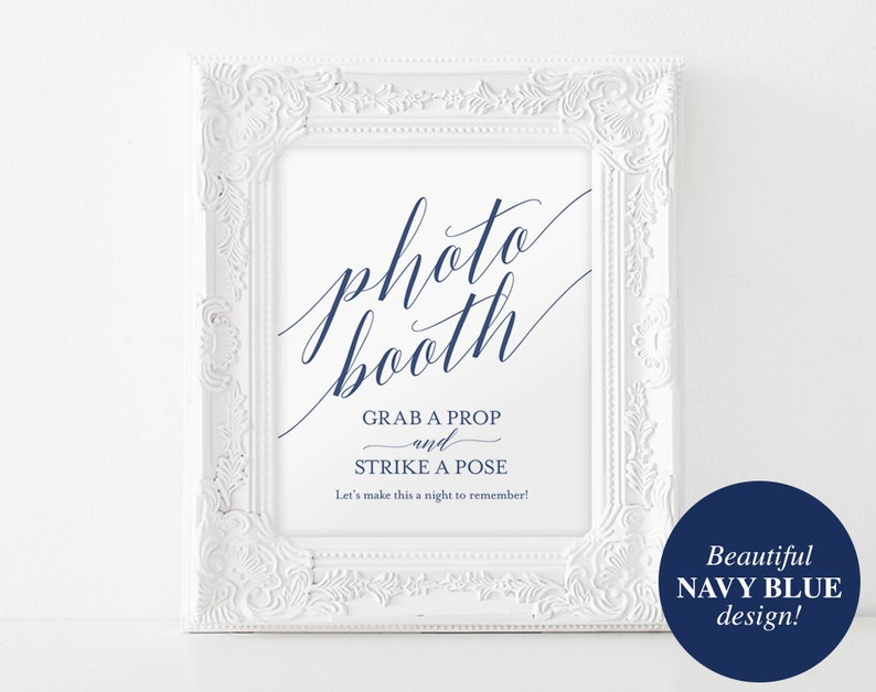 Photo Booth Sign Printable Photo Booth Sign Wedding image 0