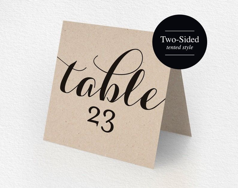 Printable Table Numbers Printable Wedding Table Numbers image 0