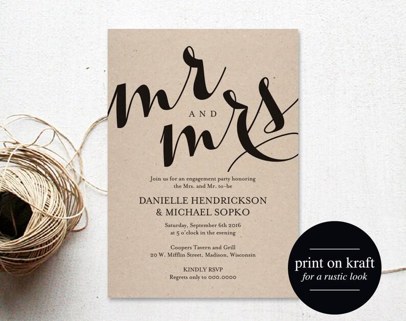 Engagement Party Invitation Engagement Invitation Wedding image 0