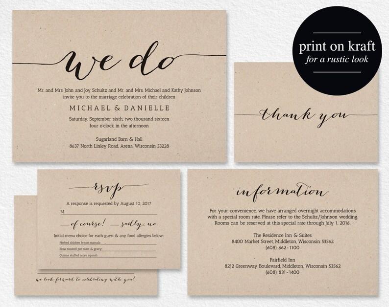 We Do Wedding Invitation Wedding Invitation Printable image 1