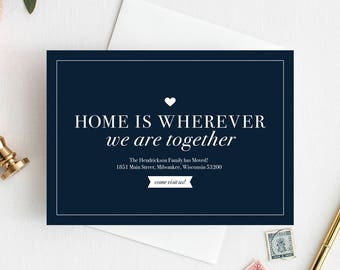 We've Moved Postcard, New Home Announcement, New Address, Moving Announcement Printable Template, Editable, PDF Instant Download #BPB200_3