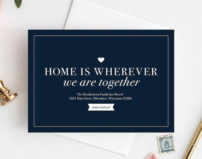 We've Moved Postcard New Home Announcement New Address image 1