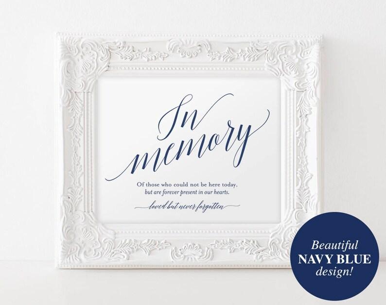 In Memory Sign In Loving Memory Sign Memory Sign Memorial image 0