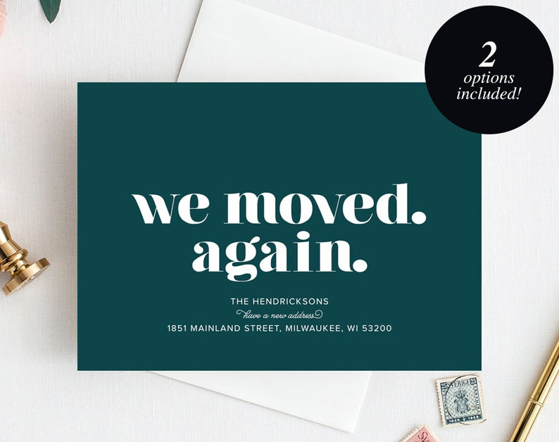 Moving Announcement Printable We Moved. Again. New Home image 0