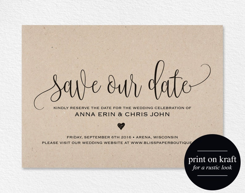 Save the Date Template Save our Date Card Save the Date image 0