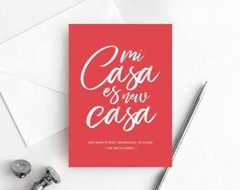 Moving Announcement, Mi Casa es new Casa, New Home Announcement, New Address, Spanish Moving Announcement, PDF Instant Download #BPB200_8