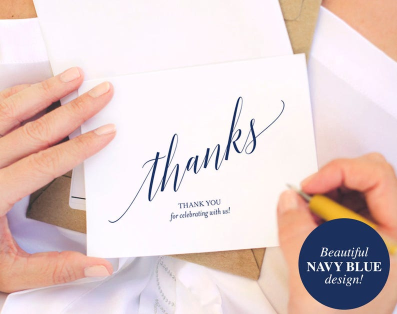 Navy Thank You Cards Thank You Notes Thank You Cards image 0