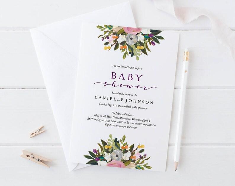 Baby Shower Invitation Baby Shower Invitation Template image 0