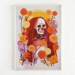 Santa Muerte Print, Skeleton Art, Day of the Dead Art, Mexican Decor