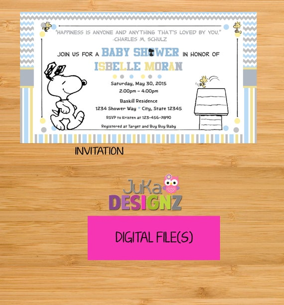 My little snoopy baby shower invitations and more digital etsy filmwisefo