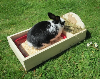 Rabbit Litter Tray with Hay Feeder