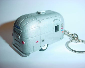3D AIRSTREAM Bambi Trailer custom keychain by Brian Thornton keyring key  chain finished in all silver 4815d4fa37