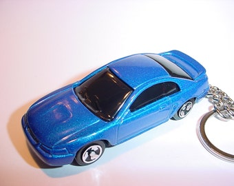 D  Ford Mustang Gt Custom Keychain By Brian Thornton Keyring Key Chain Finished In Blue Color Trimcast Metal Body