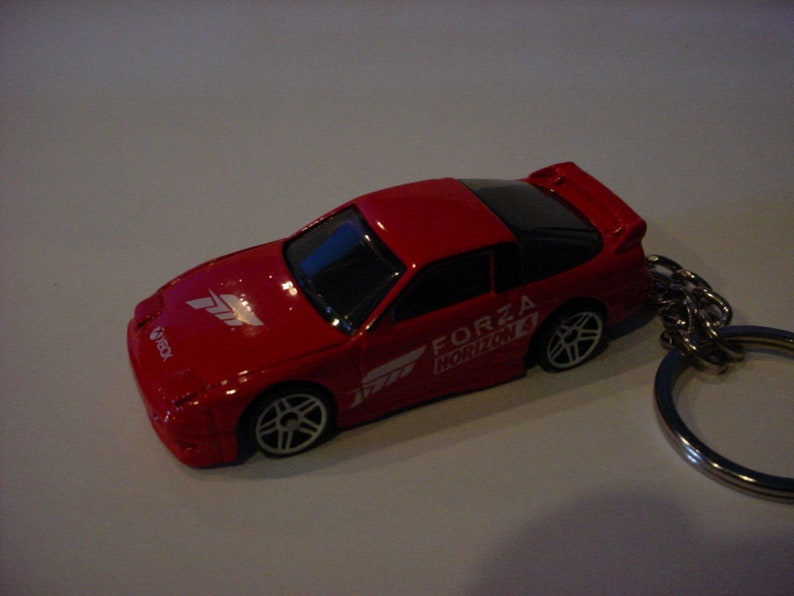3D Nissan Silvia 240SX custom keychain by Brian Thornton keyring key chain finished in red color forza xbox trim 180X nismo