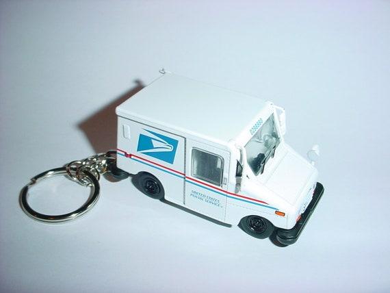 3d Usps Llv Mail Truck Custom Keychain By Brian Thornton Etsy