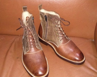 Men's Leather Boots, Custom Leather Boots, Made to Order Boots, Winter Boots, Rough look Boots, Handmade Leather Boots by Barismil.