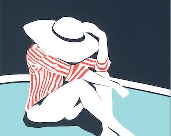 Sun Hat Print