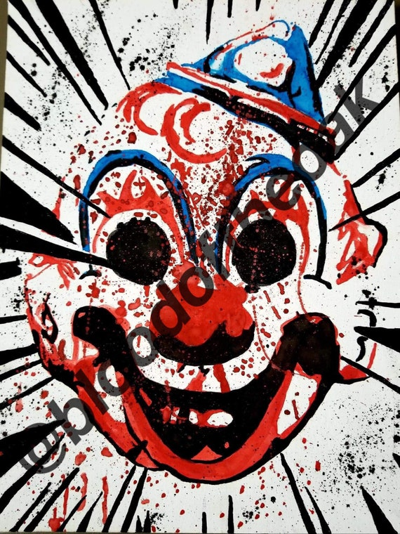 Halloween Clown Mask Michael Myers.Rob Zombie Halloween Clown Mask Michael Myers Painting Art Print