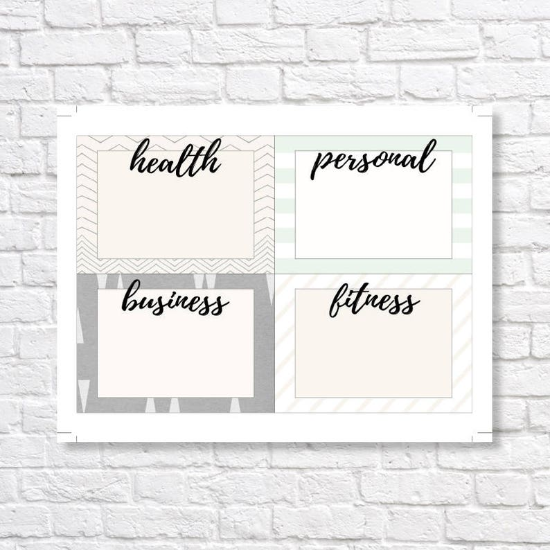 NEW YEAR/'S RESOLUTION cards new year/'s printable new year/'s note cards new year/'s resolutions vision board new year/'s organization