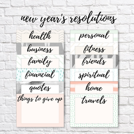 NEW YEAR'S RESOLUTION Cards New Year's Resolutions Etsy Classy New Year Resolutions Quote