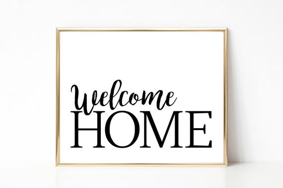 picture regarding Welcome Home Printable identify WELCOME House print - House decor printable - household place decor - welcome household wall artwork- revolutionary stylish wall artwork - minimalist print- welcome property