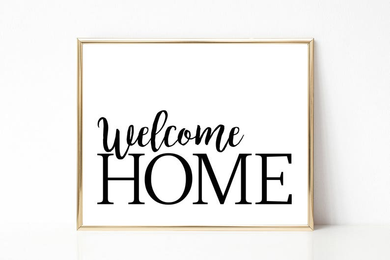 photo relating to Welcome Home Printable identified as WELCOME Residence print - Dwelling decor printable - loved ones house decor - welcome house wall artwork- innovative stylish wall artwork - minimalist print- welcome property
