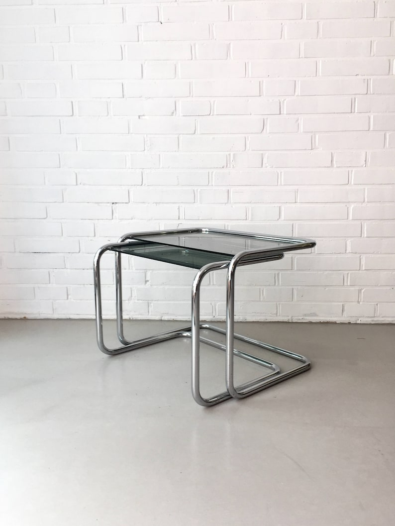 cce085ef0f9a93 Vintage side tables rare set tables Bauhaus Design Classics