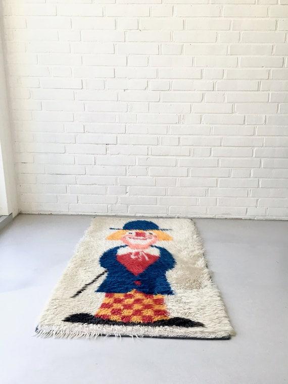 Vintage Carpet Flokati Kids Carpet Mid Century Carpet Wool Etsy