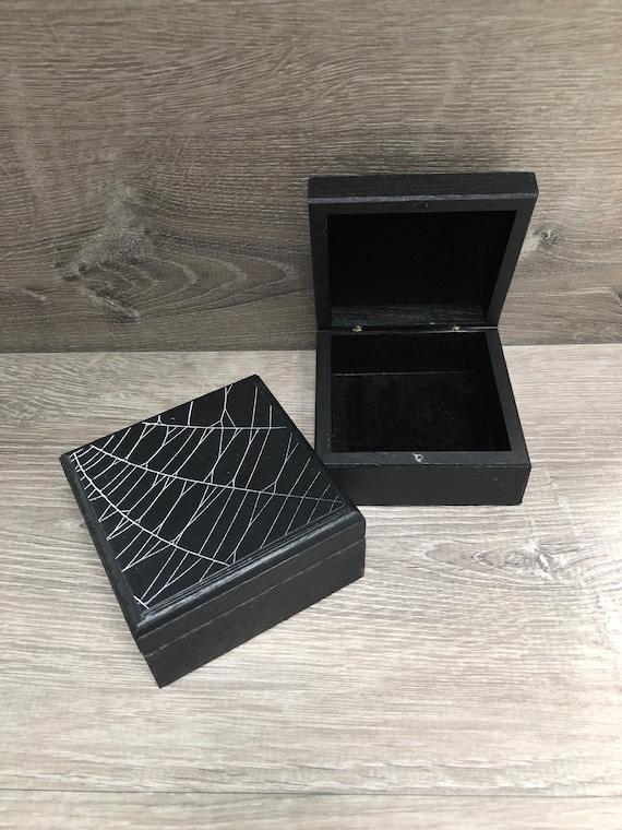 Trinket Box, Jewelry Box, Spider Web,Real Spiderweb
