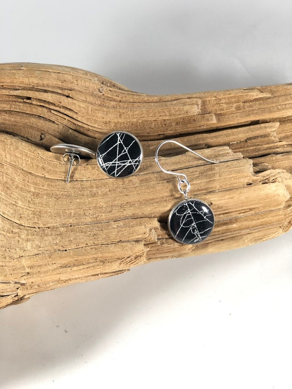 Spider Web Earrings, Spider Web Jewelry, Real Spider Web Jewelry, Real Spider Web, Preserved Spider Web, Resin Earrings