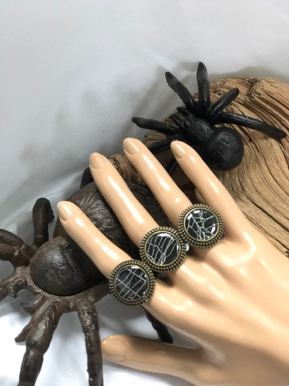 Real Spider Web, Spider Web Jewelry, Real Spider Web Ring, Spider Web Ring, Real Preserved Spider Web, Spider Web Jewelry, Spider Web
