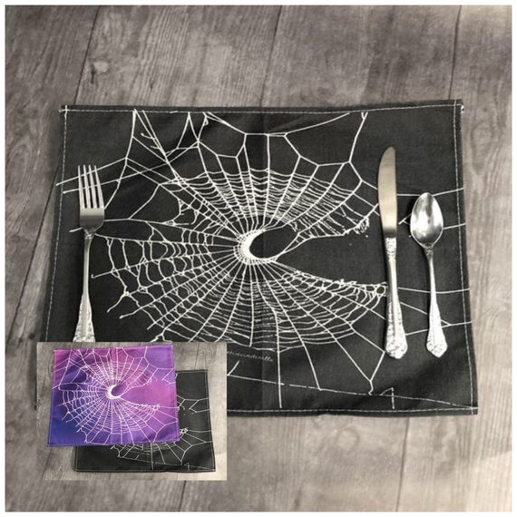 Placemats, Placemat, Gothic Decor, Kitchen Witch, Witchy Decor, Linen Placemat