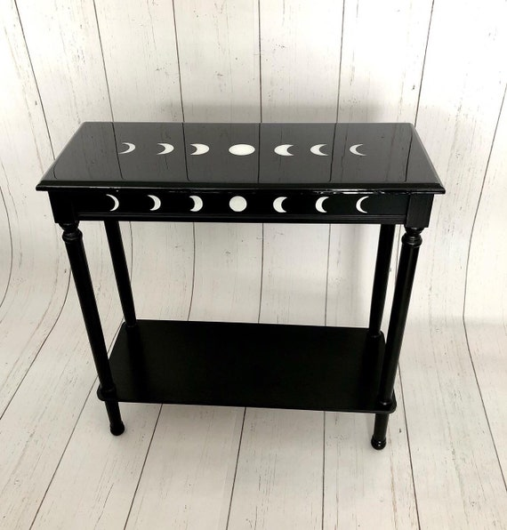 Dark Decor, Crescent Moon, Gothic Furniture, Gothic Table, Witchy Decor, Console Table