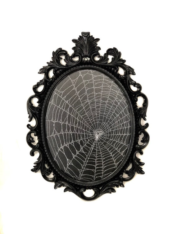 Preserved Spider Web, Framed Spider Web, Spider Web, Real Spider Web, Real Spider Web, Spider Art, Real Nature Decor, Gothic Home Decor