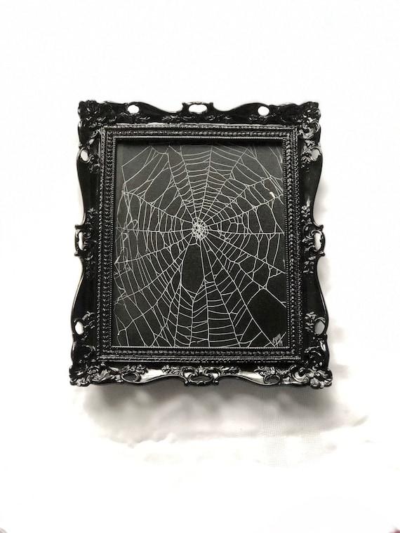 Real Spider Web, Spider Web, Framed Spider Web, Spider Web Art, Spider Taxidermy, Real Nature Decor, Gothic Decor, Cobweb Design