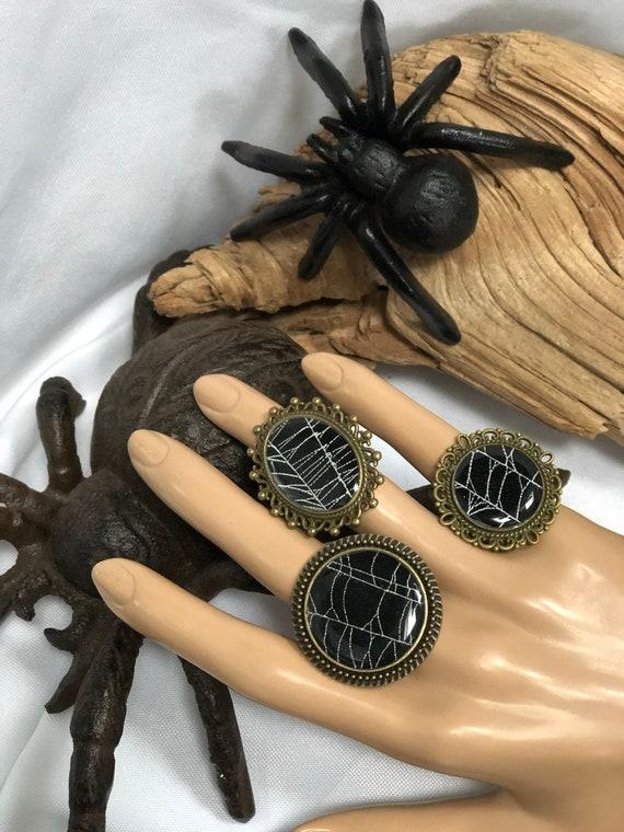 Real SpiderWeb, Spiderweb Jewelry, Real Spiderweb Ring, Preserved Spiderweb, Spiderweb Jewelry, Spiderweb Design