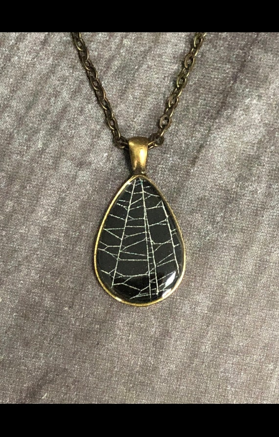 Real Spider Web Pendant, Spider Web Necklace, Gothic Necklace, Spider Web Jewelry, Preserved Spider Web, Real Spider Web, Gothic Jewelry