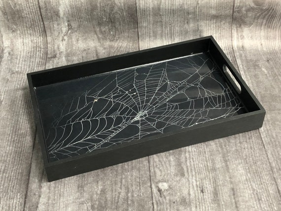 Real Spider Web, Preserved Spider Web, Coffin Tray, Serving Tray