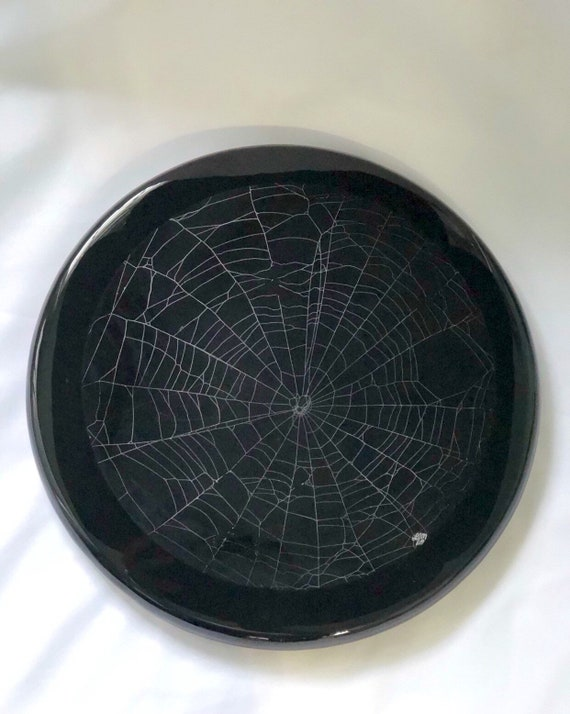Real Spider Web, Lazy Susan, Gothic Home Decor, Preserved Spider Web, Spider Taxidermy, Real Nature Decor