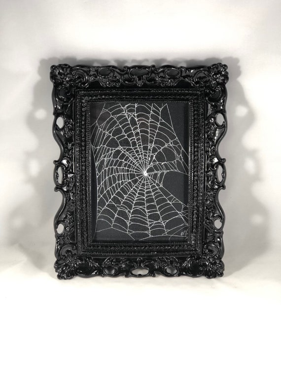 Real Spider Web,  Preserved Spider Web, Framed Spider Web, Spider Web Art, Spider Taxidermy, Real Nature Decor, Gothic Home Decor