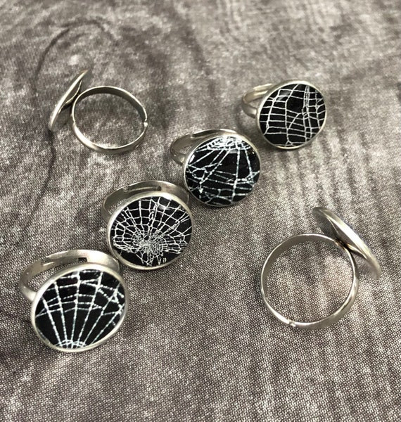 Real Spider Web, Spider Web Jewelry, Real Spider Web Ring, Spider Web Ring, Real Preserved Spider Web, Spider Web Jewelry, Spider Web