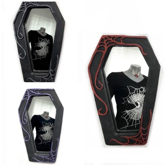 Gothic Mirror, Coffin Mirror, Black Mirror, Witchy Mirror, Mirror, Spooky Mirror
