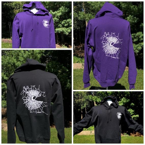 Black Hoodie, Gothic Hoodie, Purple Hoodie, Halloween Hoodie, Halloween Costume