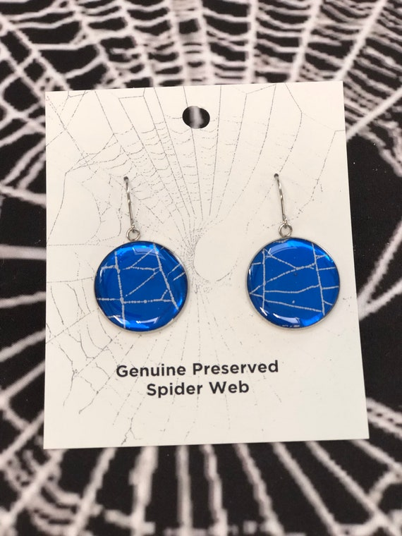 Earring, Spiderweb Earrings, Halloween Earrings, Gothic Earrings, Spiderweb Jewelry, Real Spiderweb , Earrings from Nature