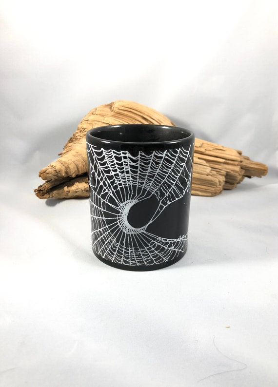 Halloween Coffee Cup, Gothic Mug, Halloween Mug, Coffee Cup, Spider Web, Witches Brew Cup
