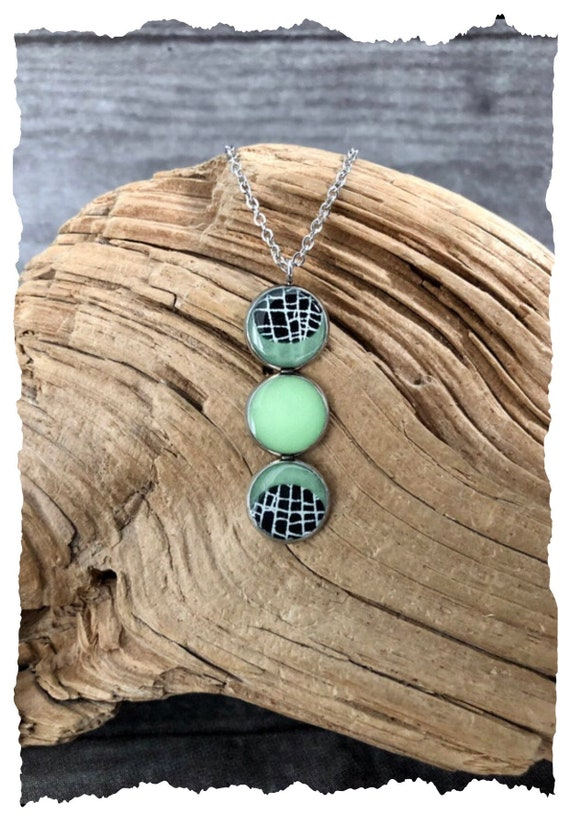 Triple Moon Necklace, Spider Web Jewelry, Real Spider Web, Witchy Jewelry, Moon Jewelry, Gothic Jewelry,Glows in the Dark